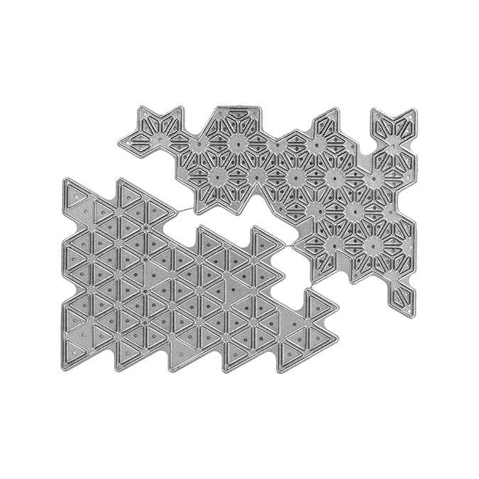 Dies - Bouts géométriques - 2 pcs