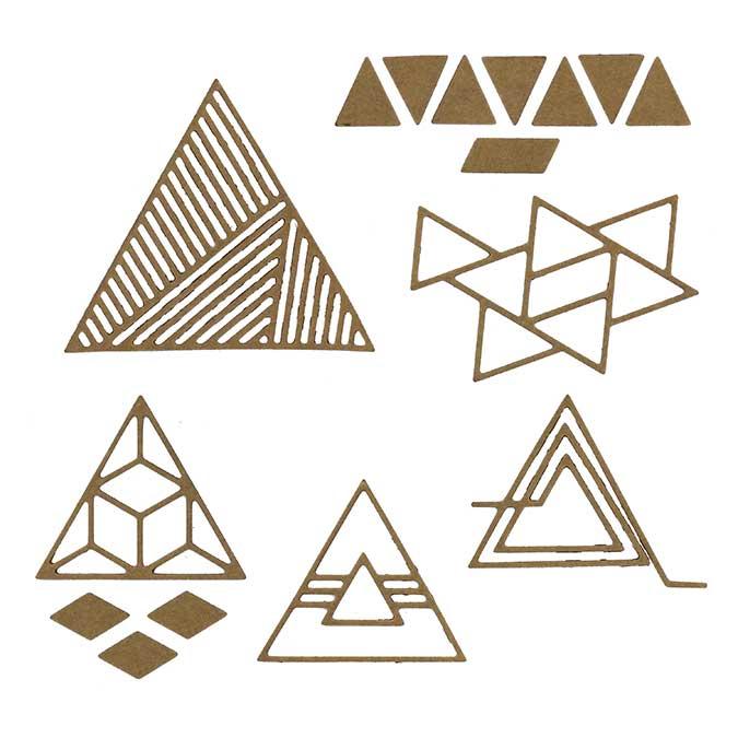 Dies - Triangles géométriques - 5 pcs