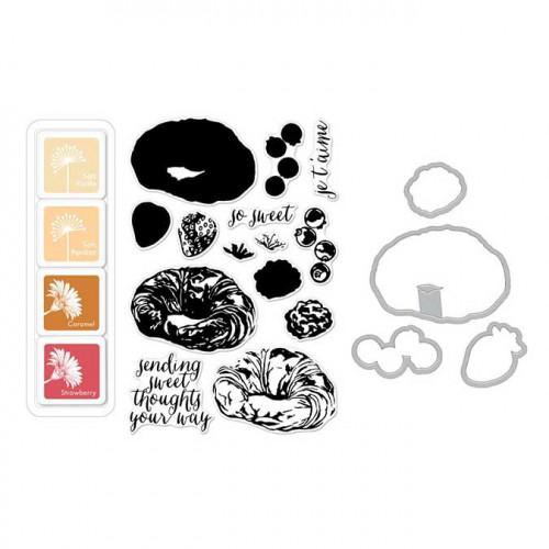 Color Layering Set Croissant - Tampons, Dies, Encres