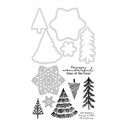 Set tampons et dies coordonnés Nordic Christmas