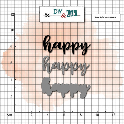 Tampon et Dies Happy - 3 pcs
