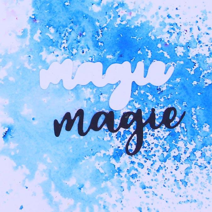 Tampon et Dies Magie - 3 pcs