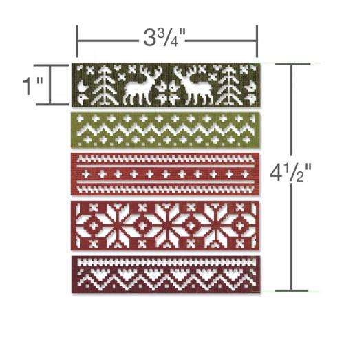 Thinlits Die Set - Holiday Knit - Tim Holtz - 5 pces