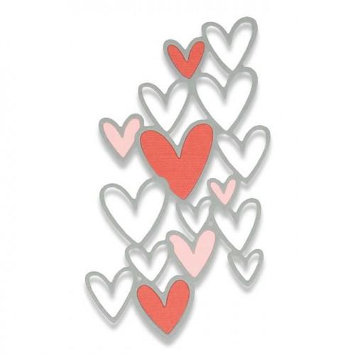 Thinlits Die Fond Cœurs
