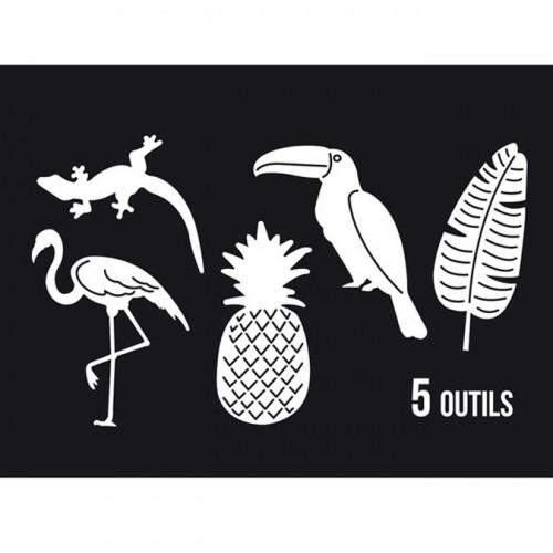 Dies Sweety Cuts - Ananas et compagnie - 5 pcs