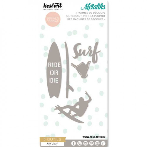Die Set Métaliks - Surf - 5 pcs