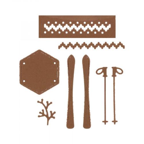 Die Set Skis et bâtons - 7 pcs