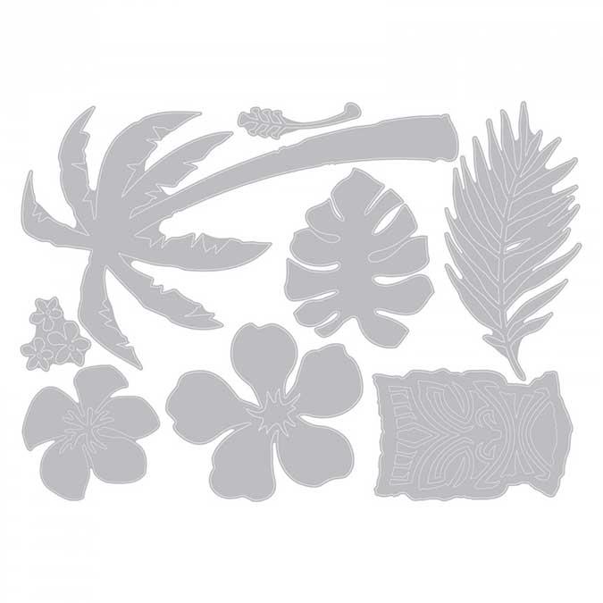 Thinlits Die Set 8 pièces - Tropical par Tim Holtz