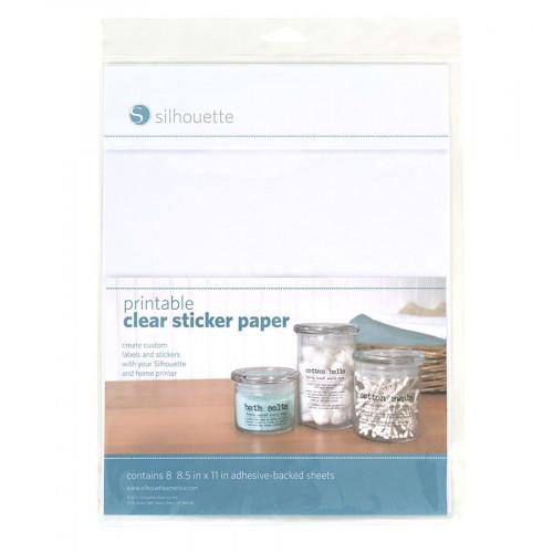 Feuilles transparentes, imprimables, adhésive - 21,5 x 28 cm - 8 pcs