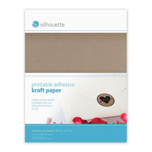 Papier kraft imprimable et adhésif - 21,5 x 28 cm - 8 pcs