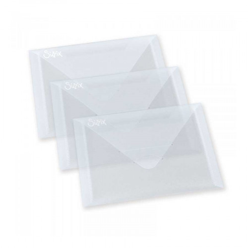 Pack de 3 enveloppes en plastique transparent