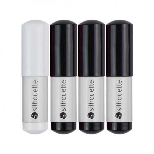 Silhouette - Lot de 4 stylos - noir et blanc