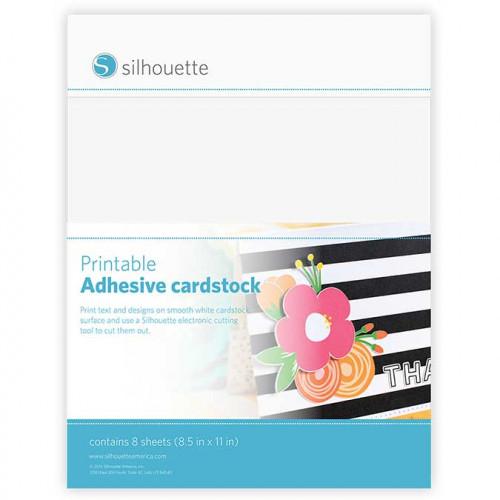 Cardstock imprimable - adhésif - 8 feuilles