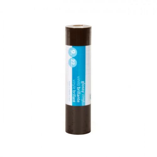 Vinyle adhésif brillant - marron - 22,9 cm x 3 m