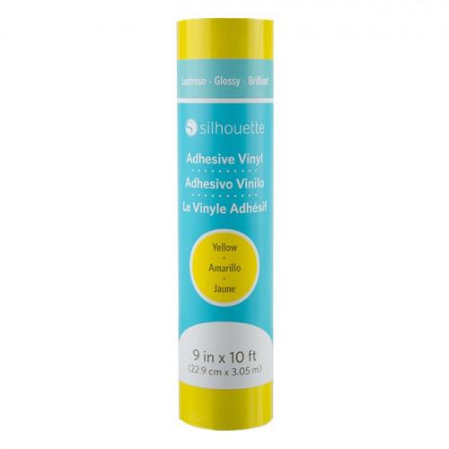 Vinyle adhésif brillant - jaune - 22,9 cm x 3 m