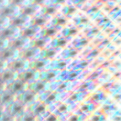MINC - Reactive Foil Carrées argentés - 31 x 183 cm
