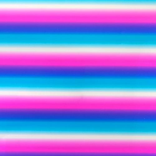 MINC - Reactive Foil Arc-en-ciel rose - 31 x 183 cm