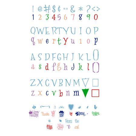 Cartouche Cricut - Lyrical letters