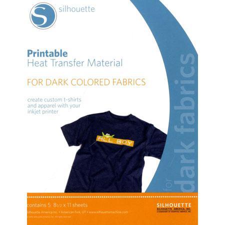 Feuilles transfert à chaud imprimable tissus foncés - 5 pcs