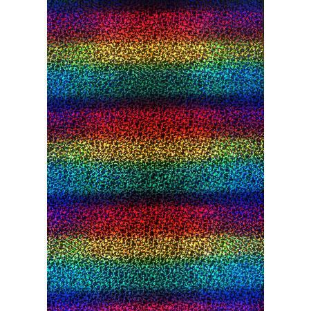 Roboflex Rainbow pour transfert sur textile - 34 x 21 cm - Arc-en-ciel