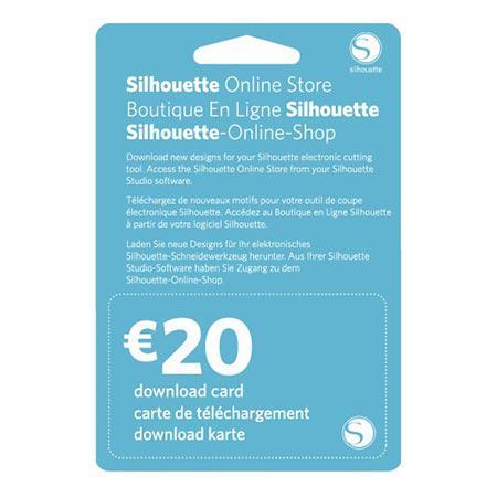 Carte de téléchargement 20 € - Silhouette Design Store