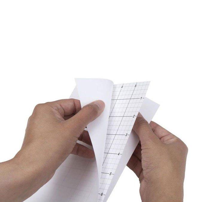 Feuilles adhésives quadrillées - 15 x 21,5 cm - 5 pcs