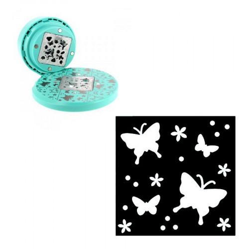 Perforatrice volante - Fond papillons