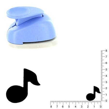 Moyenne perforatrice - Note de musique - 2.5 cm
