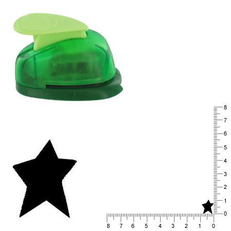 Petite perforatrice - Etoile folk - Env 1.04 cm