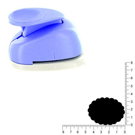 Géante perforatrice - Ovale dentelle - Env 4.7 cm