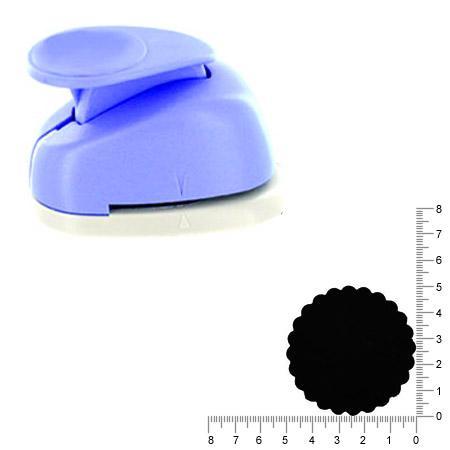 Géante perforatrice - Cercle ondulé - Env 5 cm