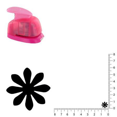 Mini perforatrice - Fleur daisy - 1 cm
