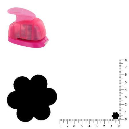 Mini perforatrice - Fleur - 1 cm