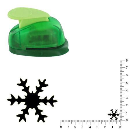 Petite perforatrice - Flocon de neige 3 - Env 1.5 cm