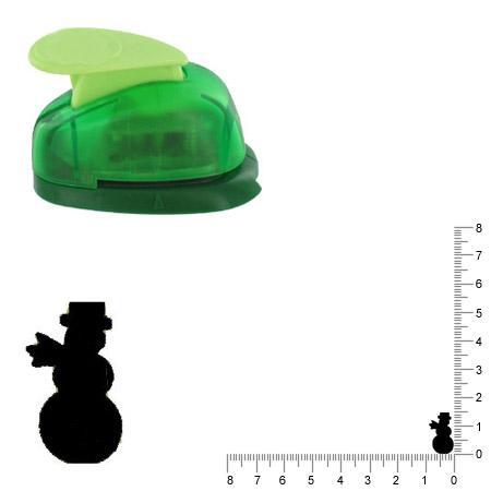 Petite perforatrice - Bonhomme de neige - Env 1.5 cm