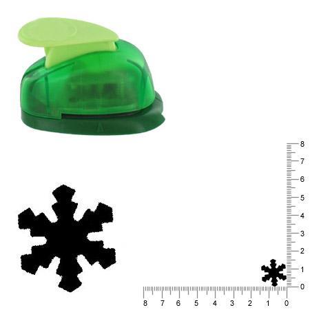 Petite perforatrice - Flocon de neige - Env 1.5 cm