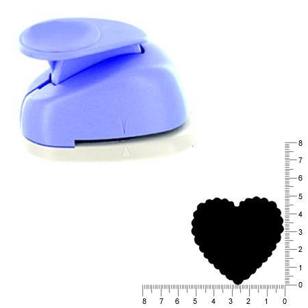 Géante perforatrice - Cœur ondulé - Env 4.5 cm