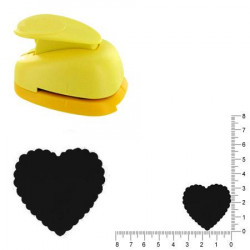 Grande perforatrice - Cœur ondulé - 3.3 cm