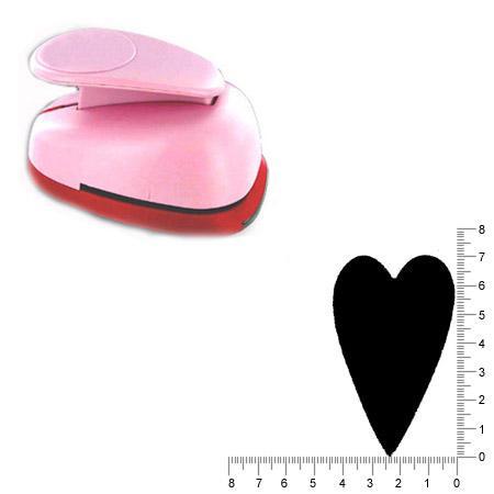 Maxi perforatrice - Coeur flok 1 - 7 cm