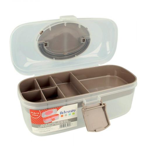Boîte de rangement en plastique - 27,8 x 12 x 13 cm