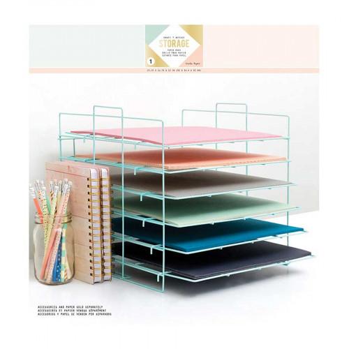Bannette pour papier scrapbooking - 35 x 32,4 x 33 cm