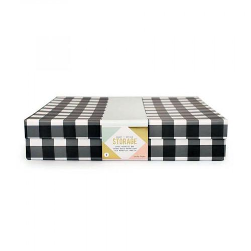 Desktop Storage - Grande boîte avec fermoir magnétique - 30,5 x 30,5 x 6,4 cm