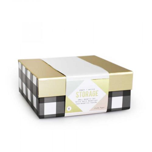 Desktop Storage - Petite boîte avec fermoir magnétique - 15,2 x 15,2 x 5,7 cm