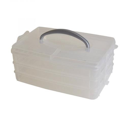 Boîte de rangement avec poignée - 23 x 15,6 x 10 cm