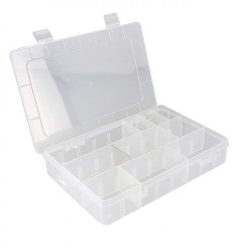 Boite de rangement en plastique - 21x14,5x4 cm