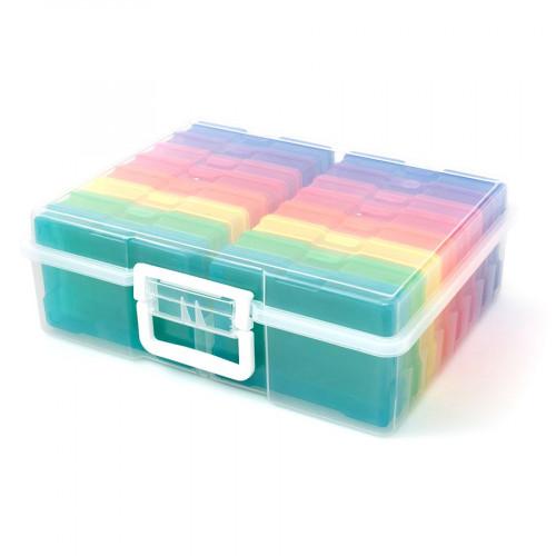 Boîte avec 16 étuis amovibles - 38 x 30,5 x 13 cm