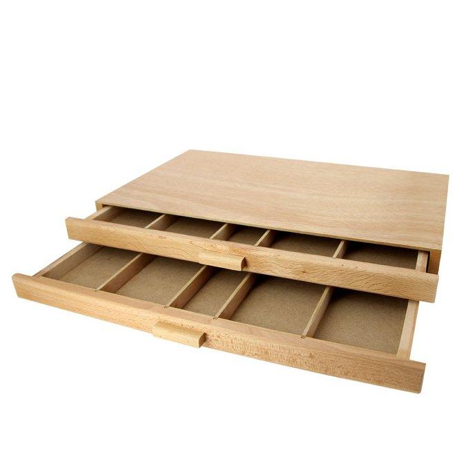 magasin en ligne 1a61e b6e2d Boite de rangement en bois 2 tiroirs
