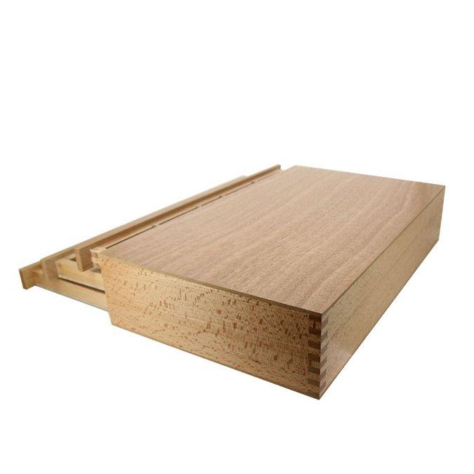 Boite de rangement en bois 3 tiroirs