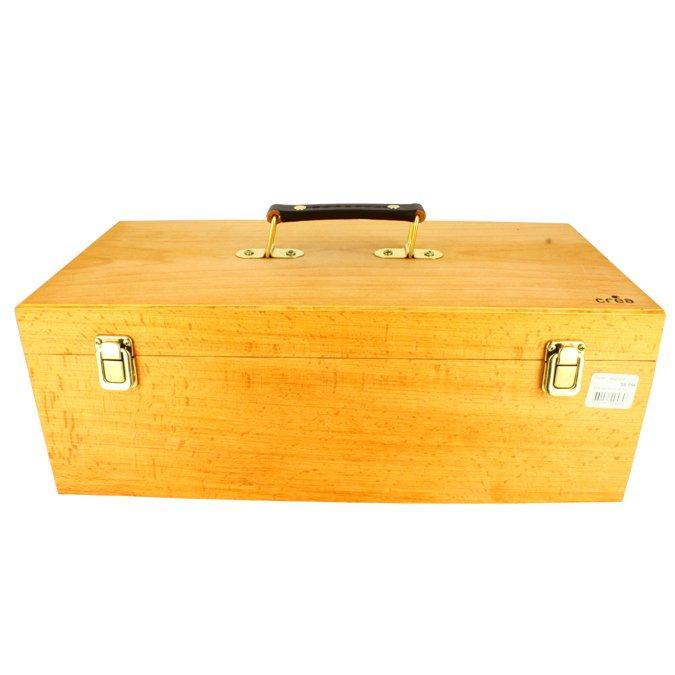 Boite de rangement en bois avec plateau - 40 cm