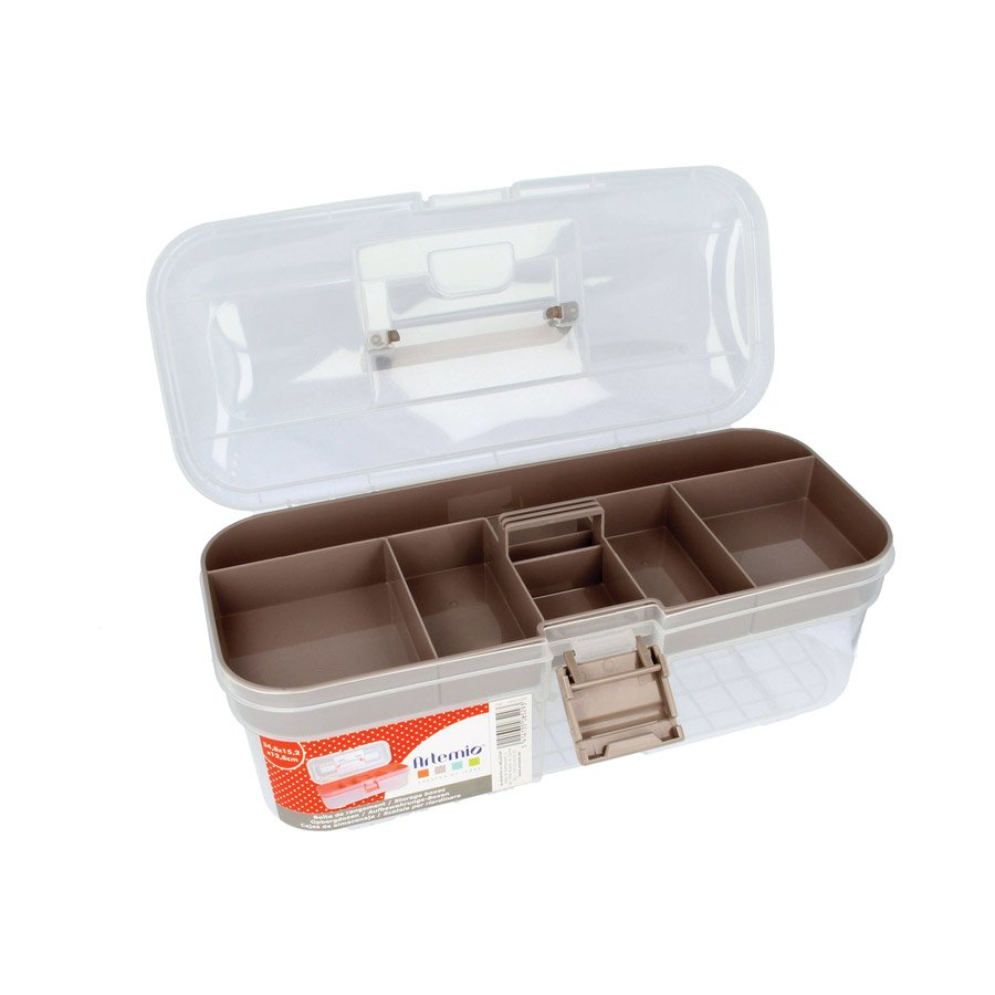 Boîte de rangement en plastique - 34,8 x 15,2 x 12,8 cm